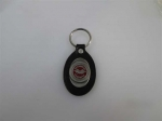 Keychain , Pewter 53--62 Logo on Leather