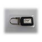 Keychain , 50 th Black Leather Pin Lock Key Ring